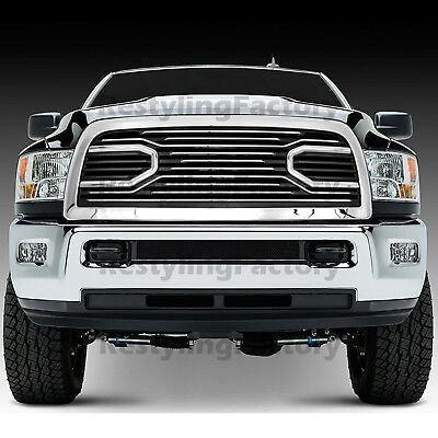 10-18 Dodge RAM 2500+3500 Replacement Big Horn Chrome Packaged Grille w/ Shell