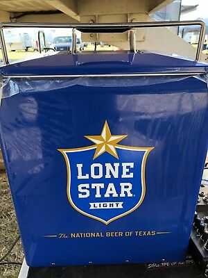Classic Lone Star Light Beer Retro Metal Ice Chest Texas New