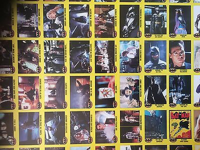 Batman - 1989 Topps Batman The Movie Uncut Finished Sheets