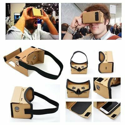 Google Virtual Reality 3D Cardboard VR Headset Full With NFC For iPhones Android