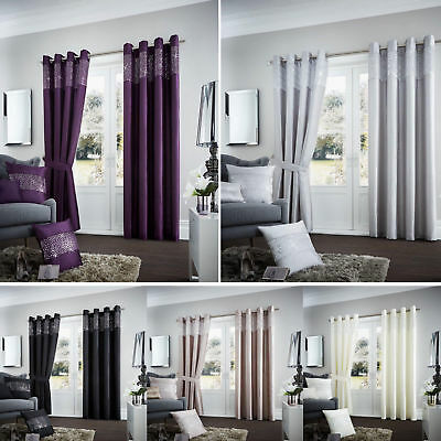 Aviv Curtains Ready Made Eyelet Fully Lined Pairs / Cushion Covers / Door Panels
