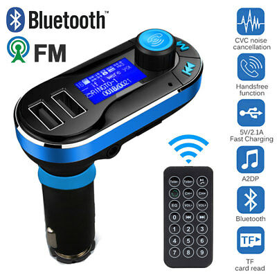 Handsfree Bluetooth Car Kit FM Transmitter MP3 Music Player USB Charger Remote