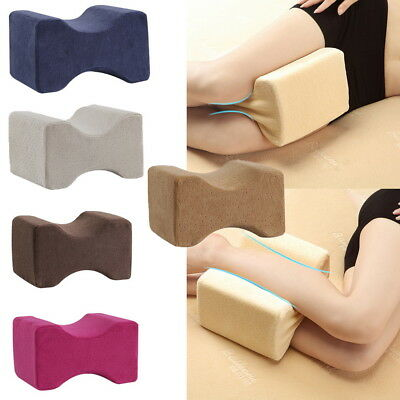 Memory Foam Leg Pillow Cushion Hips Knee Support Pain Relief w/Washable Cover S