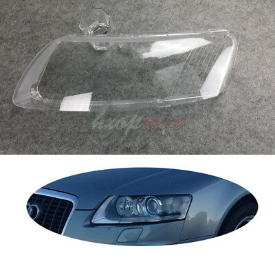 2x Car Front Headlight Lens Lampshade Shell Cover For Audi A6 A6L 2006 - 2011