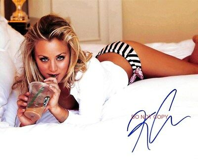 """Kaley Cuoco The Big Bang Theory Sexy Reprint Autographed 8x10"""" Photo #2 RP"""