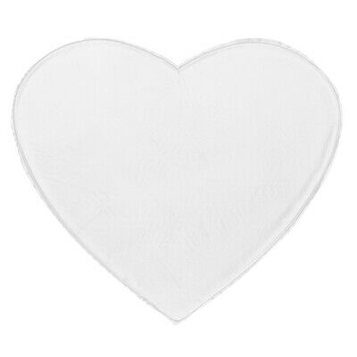 10pcs Comfy Anti-Wrinkle Chest Silicone Reusable Love Heart Transparent Pads