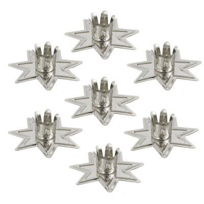 """Set of 7 Silver Fairy Star Chime Candle Holders 4"""" Mini Taper Holder Seven"""