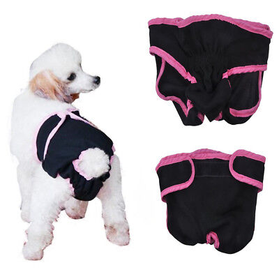 Dog Diapers Female Washable Reusable Sanitary Panties for Small to Large Dogs