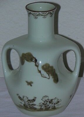 """Antique Vintage Chinese Vase Children Playing 6.5"""" Porcelain it has Two Handles"""