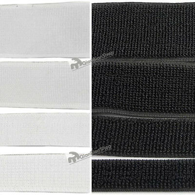 19mm 25mm 38mm 50mm Elastic Fastening Hook and Loop Stretch Straps Soft Reusable
