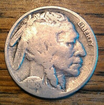 1918-S Buffalo Nickel Two Feathers Scarce Die Variety KEY DATE **FREE SHIPPING**