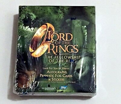 Topps Lord of the Rings Fellowship of the Ring Movie Trading Cards Box