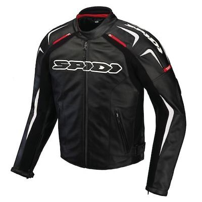 Spidi Track Motorcycle Jacket Black Leather Rrp $799 All Sizes