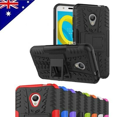 Heavy Duty Tough Kickstand Strong Case Cover For Alcatel U5 4G + FREE Protector