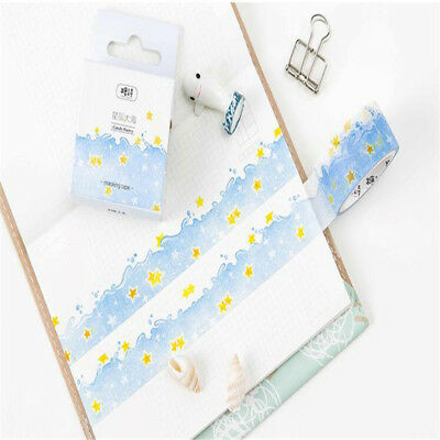 5m Shiny Star Blue Ocean Washi Tapes Stationery Stickers Scrapbooking Decoration
