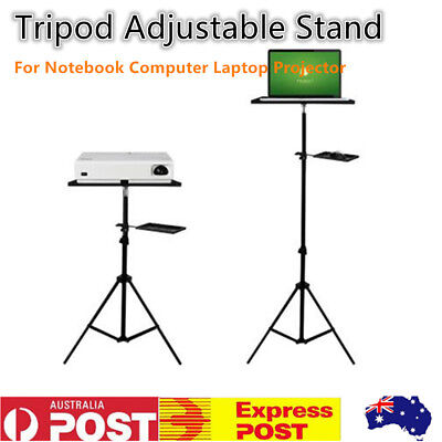 Tripod Laptop Projector Stand For Notebook Computer Adjustable Height+Tilt Tray