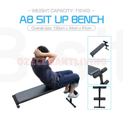 Adjustable Decline Sit Up Abdominal Bench Press Weight Gym Exercise Fitness