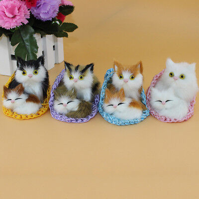 Cat Slippers Plush Kids Toy Simulation Animal Ornament Craft Xmas Gift Alluring