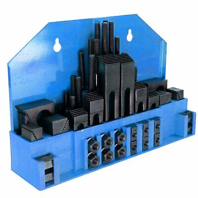 """58 Pc 1/2"""" Slot 3/8""""-16 Stud Hold Down Clamp Clamping Set Bridgeport Mill"""
