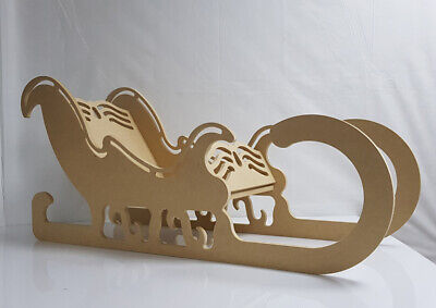Santa's Sleigh,Christmas Decoration,Flat packed,Free Standing,Huge 980mm Long