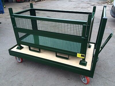 Steel Stillage , Metal Pallet , Stackable , Storage Container, warehouse trailer