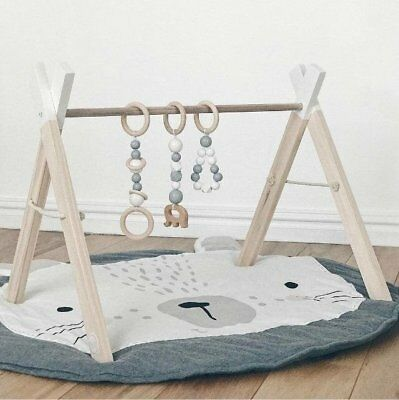 Kids Baby Newborn Rabbit Crawling Blanket Game Play Mat Padded Carpet Floor Rug