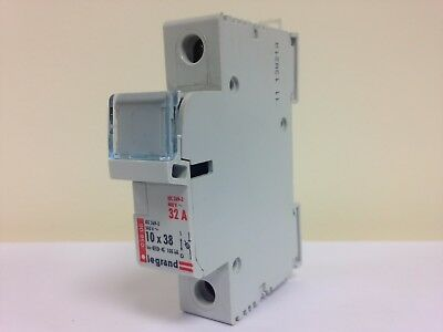 Legrand 05808 Din Rail Mounted 10x38 Fuse Carrier Holder 32Amp 1 Pole