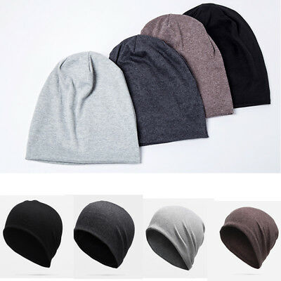 Men Cotton Winterr Slouch Skull Oversize Long Beanie Women Baggy Cap Ski Hat H