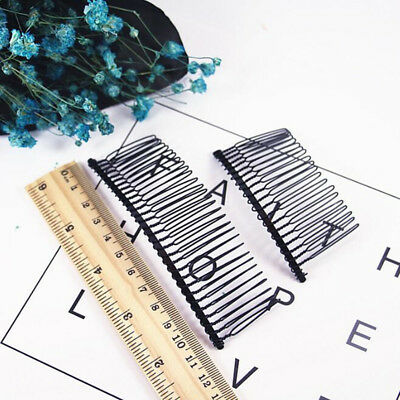 hot2Pcs/lot 10,20,30,40 Teeth Hair Braiders DIY Hair Accessories Inserted Comb