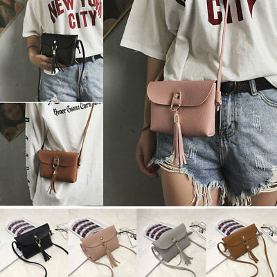 Vintage Small Messenger Bag PU Leather Shoulder Bags Crossbody Envelope Handbag