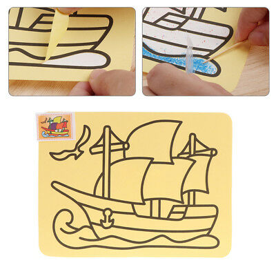 Color Sand Painting Creative Art Yellow Paper Drawing Tools Crafts Kids Toy