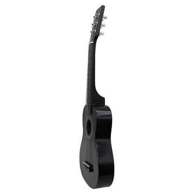 "23"" Wooden Acoustic Guitar w/ Metal String Musical Instrument Beginner Black"