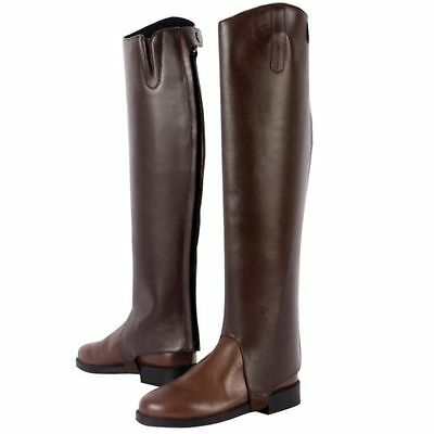 NEW Dublin Adults Leather Daily Gaiters Half Chaps, Small Size, Brown