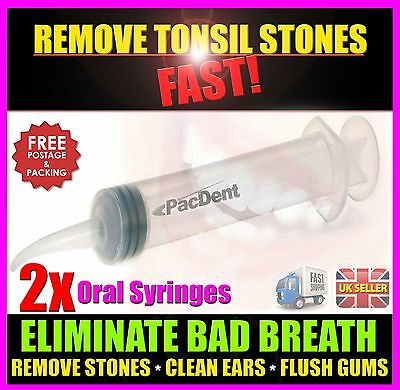 Cure Bad Breath Tonsil Stone Remover Remove Tonsil Stones - CE Approved x2 - UK