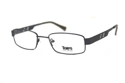 New! Tempo Eyewear MM 2006 Mens Full Rim Eyeglass Frames 51-19-140 Navy Blue