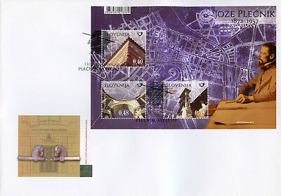 Slovenia 2017 FDC Joze Plecnik Architect 3v M/S Cover Architecture Stamps
