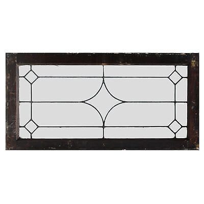 Antique American Leaded Glass Transoms, 2 Available, NLG162