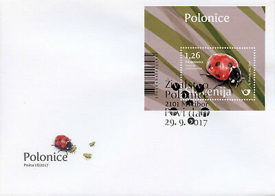 Slovenia 2017 FDC Ladybirds 1v M/S Cover Ladybird Beetles Insects Stamps