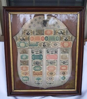 Antique and Rare United States Treasury Fractional Currency Shield Gray