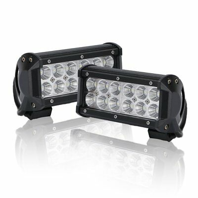 2x 7INCH 36W FLOOD CREE LED WORK LIGHT BAR OFFROAD ATV FOG TRUCK 4WD 12V VS