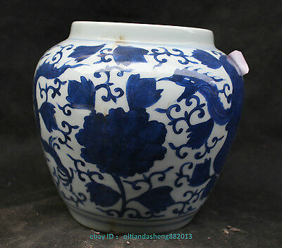 Chinese Blue and White Porcelain Dragon Jar Pot Cans Jug