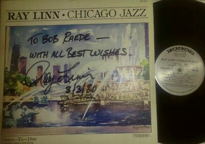 Ray Linn Chicago Jazz Trumpeter Inscribed Signed Dated LP Record free shipping