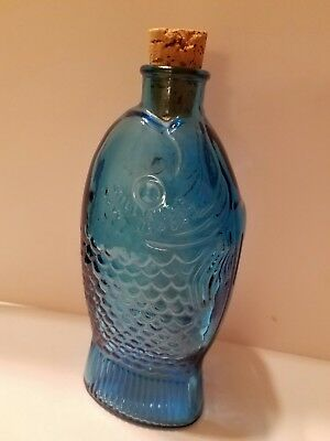 Wheaton Glass Milk Glass Fish Bottle Embossed Dr. Fisch's Bitters Millville NJ