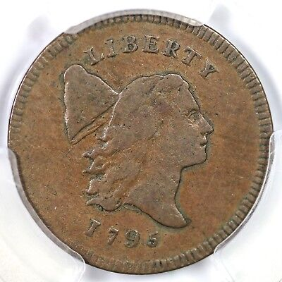 "1795 c-5a R3 PCGS VF30 ""Plain Edge, No Pole"" Liberty Cap Half Cent Coin 1/2c"