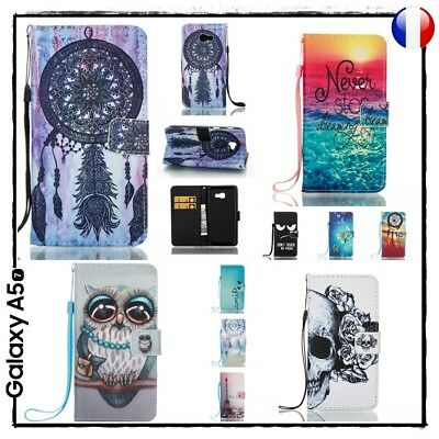Etui porte cartes coque housse Dreamcatcher case cover Samsung Galaxy A5 2017