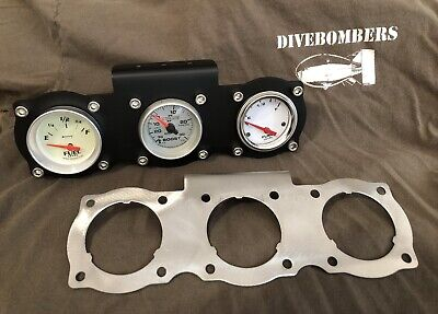"2"" Gauge Panel Bomber style Custom triple gauge Gasser Hot Rod Bezel rat rod"
