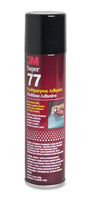 3M SUPER 77 7.3OZ SPRAY GLUE ADHESIVE for FOIL PLASTIC PAPER FOAM METAL FABRIC