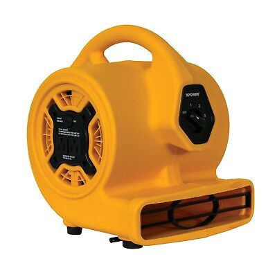 XPOWER P-130A 1/5 HP Mini Blower Fan Dryer Air Mover with Built-In Power Outlets
