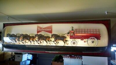 Vintage Budweiser World Champion Clydesdale Horse 6' Beer Sign Display