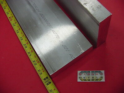 "2 Pieces 1"" X 4"" ALUMINUM 6061 FLAT BAR 24"" long T6511 Solid Plate Mill Stock"